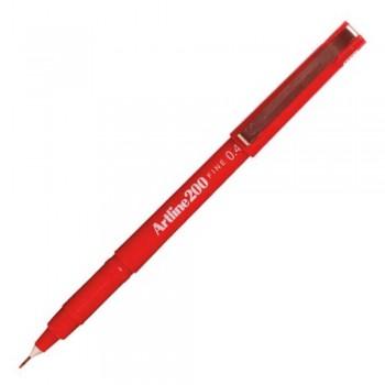 Artline 200 Fineliner Pen - EK-200 0.4mm Red EK-200-R