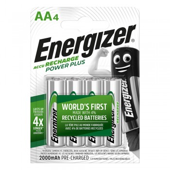 Energizer Power Plus AA Rechargeable Batteries - 4-count - 2000mAh - 1000 Cycles (Item No: B06-12) A1R2B225