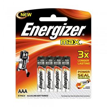 Energizer MAX AAA Alkaline Batteries - 8pcs pack