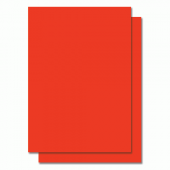 Fluorescent Color Label Sticker - A4 size - 100 sheets - Red (Item No: C01-05 RED)
