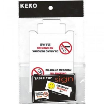 KENO Table Top Sign — NO SMOKING