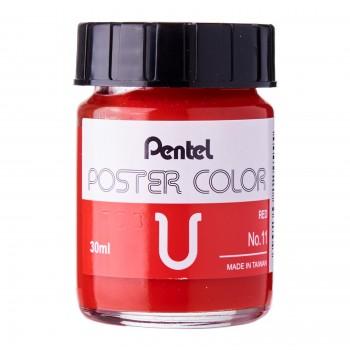 Pentel Poster Color U Red 30ml (No.11)