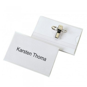 Rigid PVC Name Badge With Clip (50pcs per box)