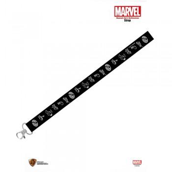 Marvel: Kawaii Art Collection Strap - Black and White (MK-STP-BAW)