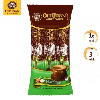 OLDTOWN White Coffee 3-in-1 Hazelnut Instant Premix Coffee Convenient Pack (3s x 1 Pack)