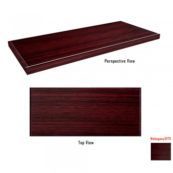 Motorized Adjustable Height Frame with Table Top - Mahogany