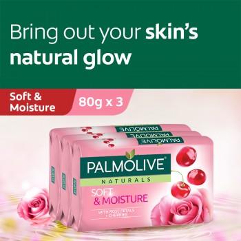 Palmolive Soft & Moisture Bar Soap Valuepack 80g x 3