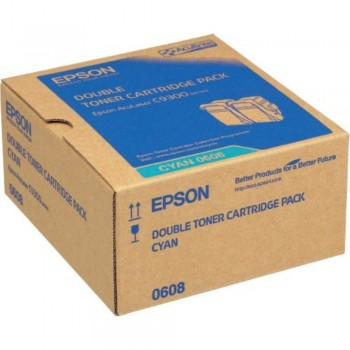 Epson SO50608 Double Pack Cyan Toner (Item No:EPS SO50608)