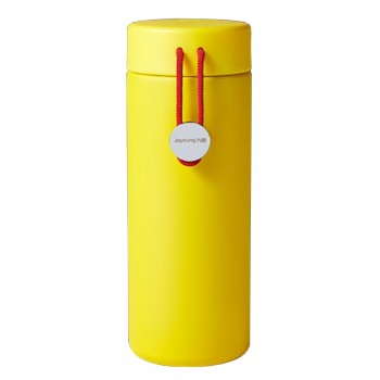 Joyoung 316L Stainless Steel Mini Portable Cute with Red String Thermal Flask - 350ml Yellow
