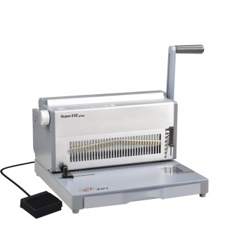 SUPU Super23E Plus Electric Wire O Punching & Manual Binding Machine  Type 2:1 pitch