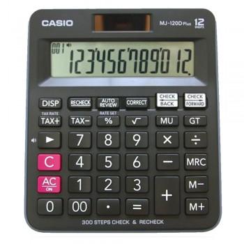 Casio Desktop Calculator - 12 Digits, 300 Steps Check & Recheck, Tax Calculation (MJ-120D-PLUS-B)