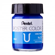 Pentel Poster Color U Cobalt Blue 30ml (No.23)