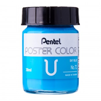 Pentel Poster Color U Sky Blue 30ml (No.72)