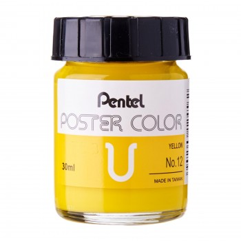 Pentel Poster Color U Yellow 30ml (No.12)