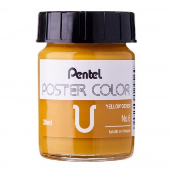 Pentel Poster Color U Yellow Ochre 30ml (No.6)