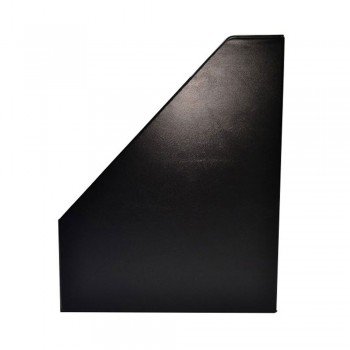 "4"" PVC Magazine Box File - Black"